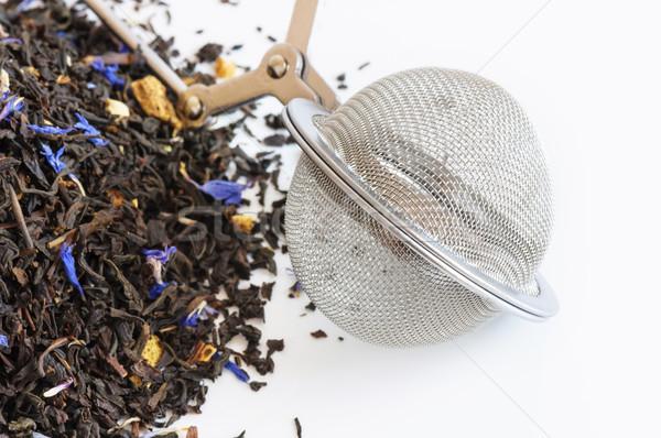 Chá bola perfumado branco flor beber Foto stock © dutourdumonde