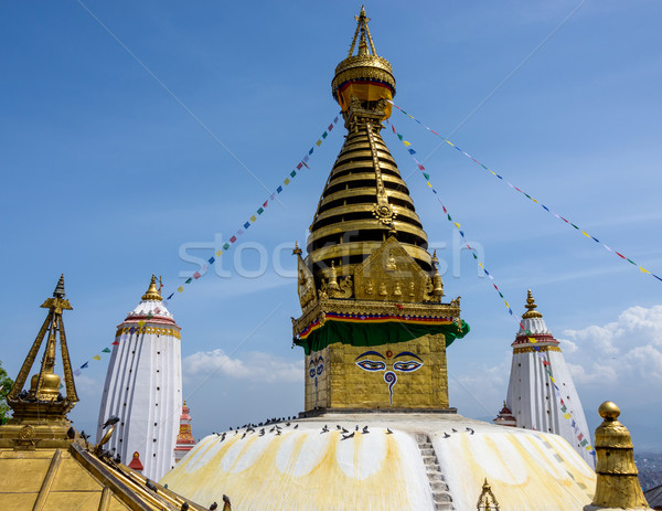 Swayambhunath stupa in Kathmandu Stock photo © dutourdumonde