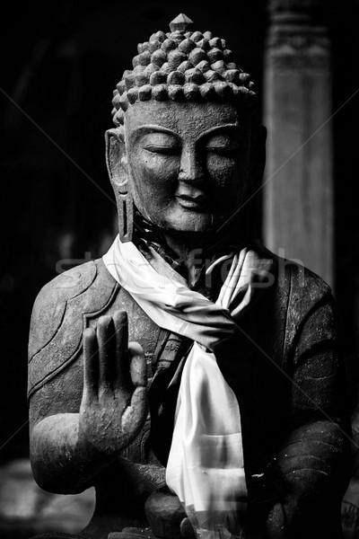 Buddha statue in black and white Stock photo © dutourdumonde