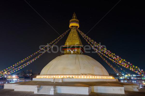 Boudhanath stupa at night Stock photo © dutourdumonde