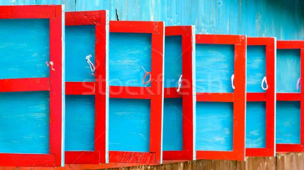 красный синий жалюзи подробность домой Сток-фото © dutourdumonde