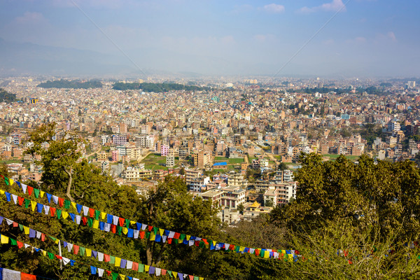 Kathmandu city view from Swayambhunath Stock photo © dutourdumonde