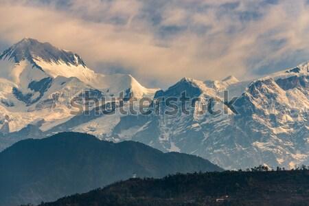 Annapurna range at sunrise Stock photo © dutourdumonde