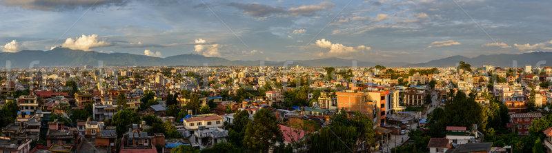 Panoramic view of Kathmandu from Patan Stock photo © dutourdumonde
