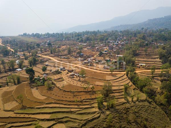 Aerial view of Balewa, Nepal Stock photo © dutourdumonde