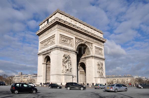 The Arc de triomphe in Paris Stock photo © dutourdumonde