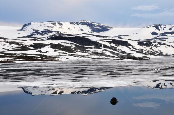Norweski krajobraz lata niebo górskich niebieski Zdjęcia stock © dutourdumonde