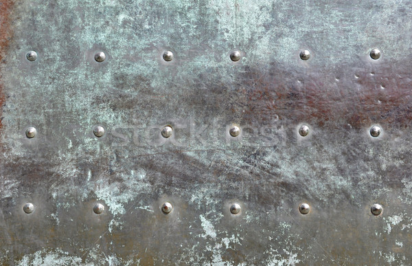 Detail of a bronze door Stock photo © dutourdumonde