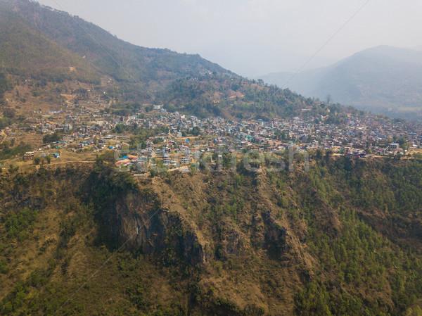 Légifelvétel Nepál kerület építkezés tájkép hegy Stock fotó © dutourdumonde