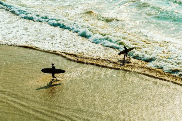 Two surfers Stock photo © dutourdumonde