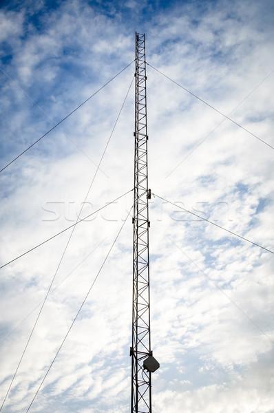 технологий радио синий кабеля связи Сток-фото © dutourdumonde