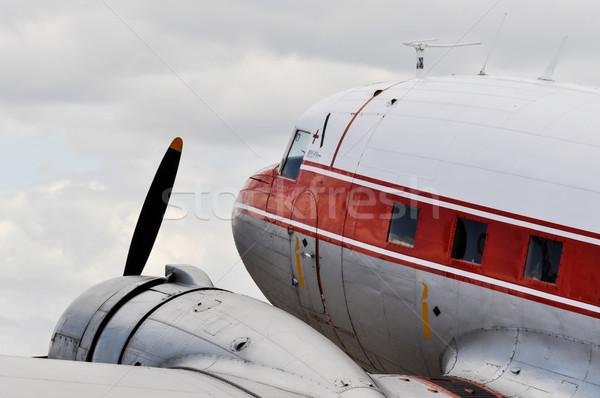 Vintage avion détail nuage rétro blanche Photo stock © dutourdumonde