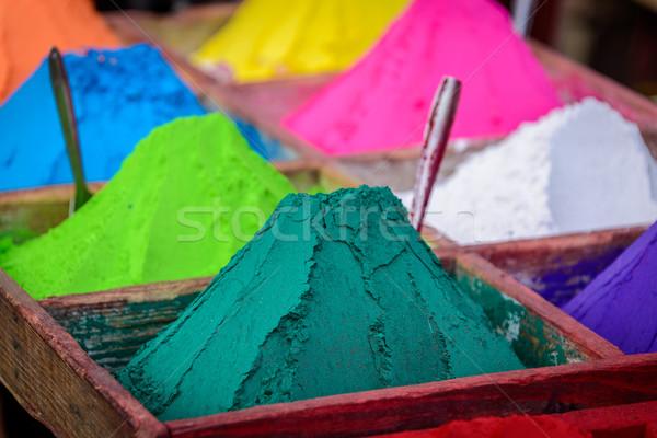 Colorful powders in Kathmandu Stock photo © dutourdumonde