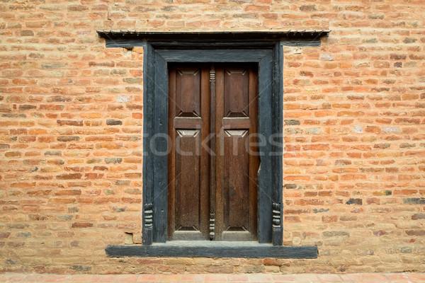 伝統的な ウィンドウ 木製 木材 デザイン レトロな ストックフォト © dutourdumonde