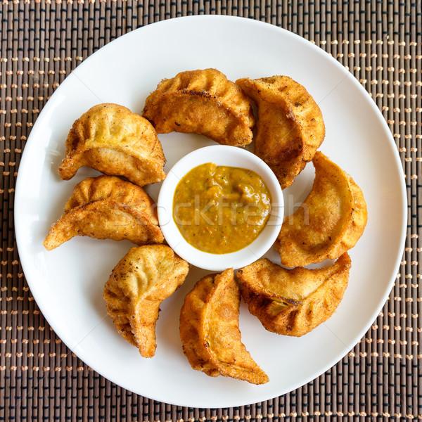 Fried Nepalese momos Stock photo © dutourdumonde