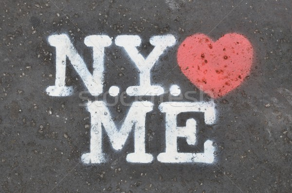 New York loves me stencil Stock photo © dutourdumonde