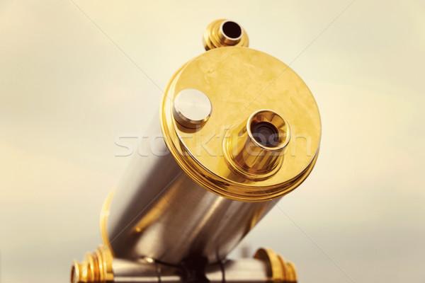 Vintage telescoop technologie metaal retro antieke Stockfoto © dutourdumonde