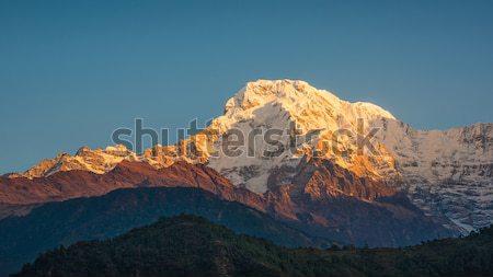 юг Непал Восход пейзаж путешествия освещение Сток-фото © dutourdumonde