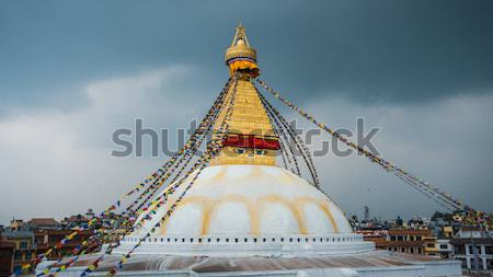 Boudhanath stupa illuminated for Losar in Kathmandu Stock photo © dutourdumonde