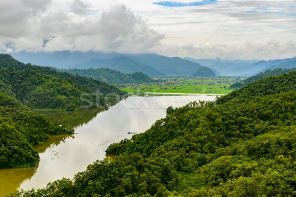 Rupa lake in Nepal Stock photo © dutourdumonde