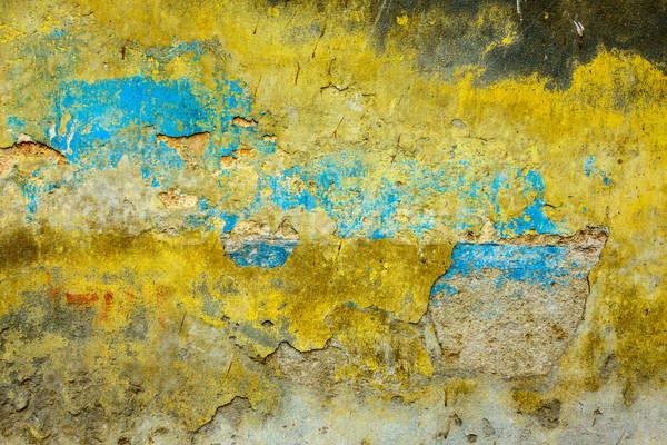 Muur textuur Geel Blauw papier Stockfoto © dutourdumonde