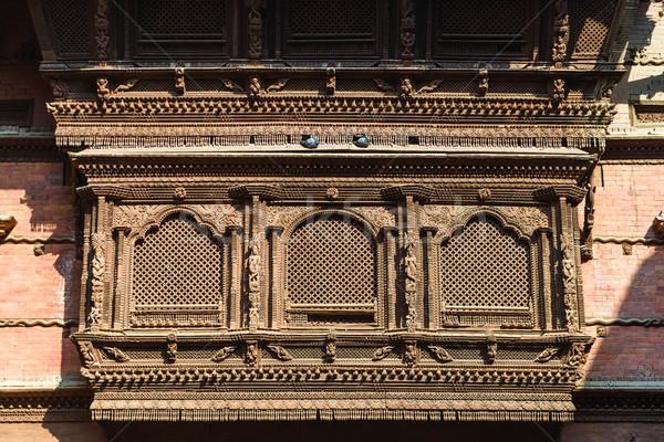 Houten venster oude gebouw hout architectuur Stockfoto © dutourdumonde