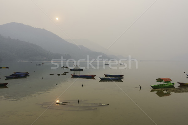 Phewa Lake in Pokhara, Nepal Stock photo © dutourdumonde