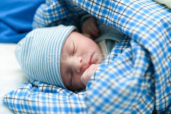 Newborn baby sleeping Stock photo © dutourdumonde