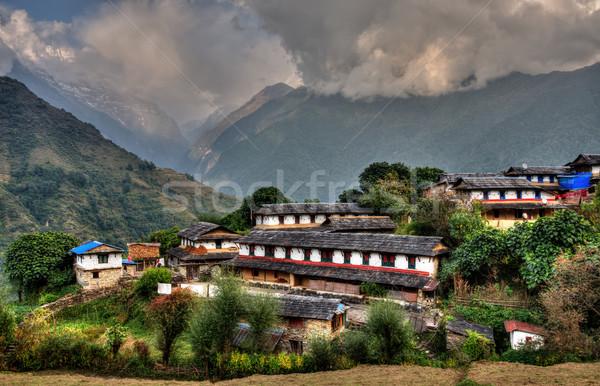 Falu Nepál régió hdr természet tájkép Stock fotó © dutourdumonde