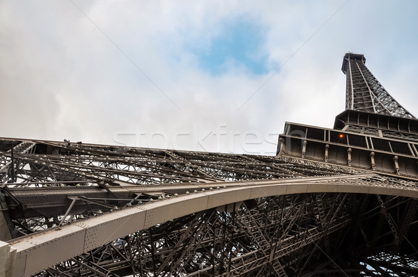 Tour Eiffel Paris France bâtiment ville construction Photo stock © dutourdumonde