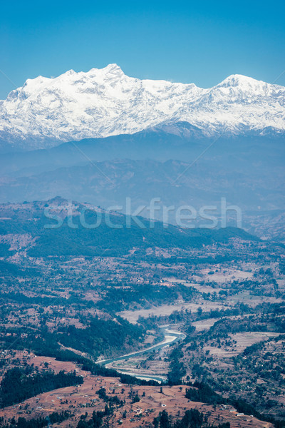 View on the Himalayas in Nepal Stock photo © dutourdumonde