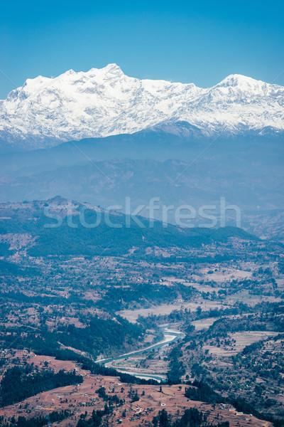 Görmek himalayalar Nepal film filtre gökyüzü Stok fotoğraf © dutourdumonde