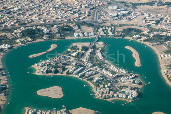 Aerial view of an island in Doha Stock photo © dutourdumonde