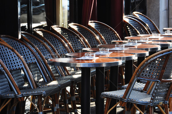 Parisian cafe terrace Stock photo © dutourdumonde