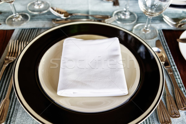 Neat dining table setting Stock photo © dutourdumonde