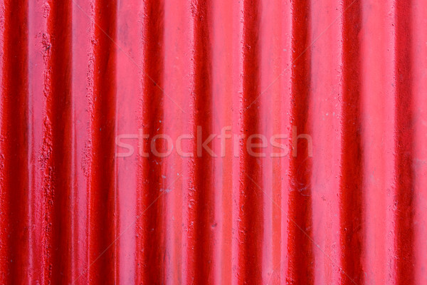 Red corrugated steel sheet texture Stock photo © dutourdumonde
