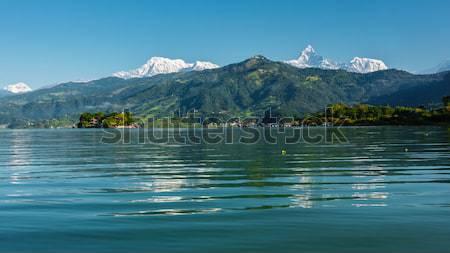 Nepal lago agua paisaje montana Foto stock © dutourdumonde