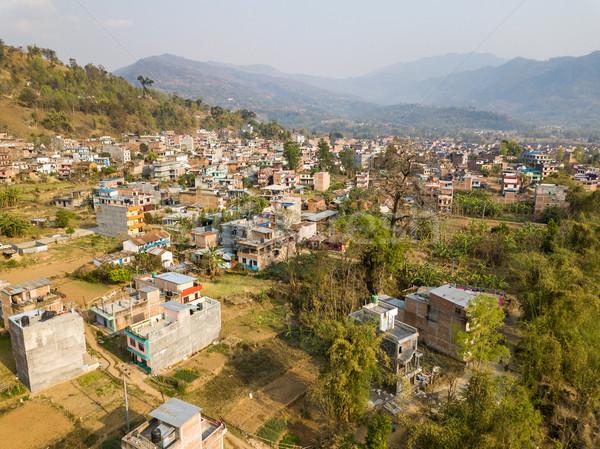 Nepal bölge manzara dağ yeşil Stok fotoğraf © dutourdumonde