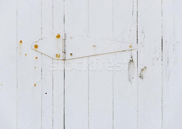 白 木製 ドア ヒンジ さびた 木材 ストックフォト © dutourdumonde