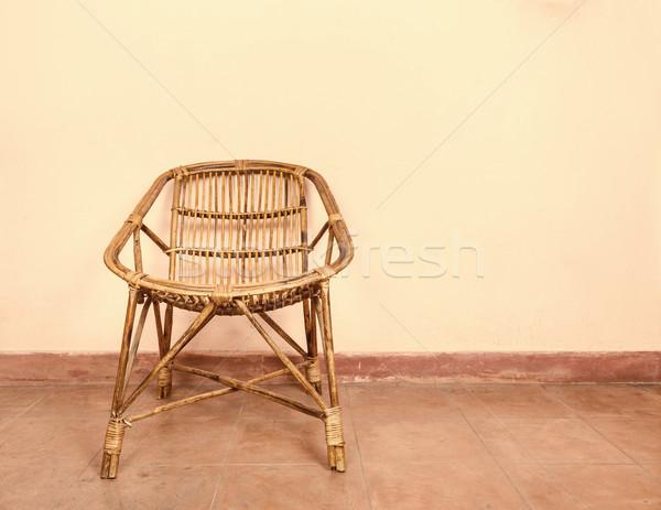 Wicker armchair Stock photo © dutourdumonde