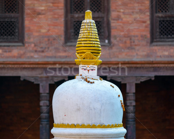 White and golden chorten stupa Stock photo © dutourdumonde