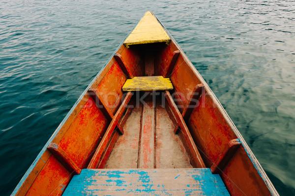 красочный небольшой лодка подробность озеро воды Сток-фото © dutourdumonde