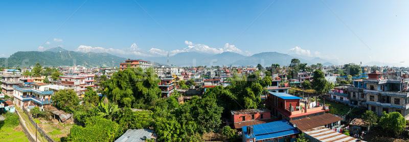 Panoramic view of Pokhara in Nepal Stock photo © dutourdumonde