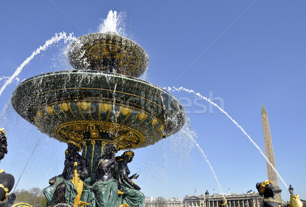 Fountain on the Concorde square, Paris Stock photo © dutourdumonde
