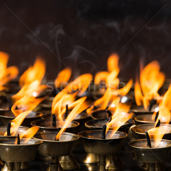 Butter lamps in a buddhist monastery Stock photo © dutourdumonde