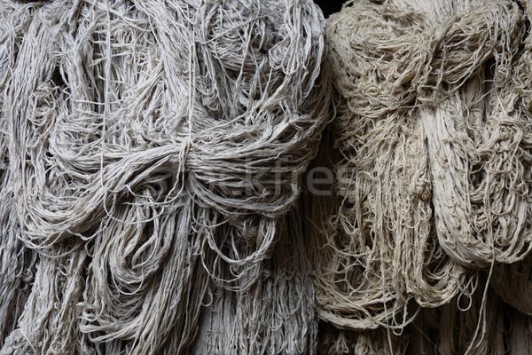 Hoop wol fabriek textuur weefsel Stockfoto © dutourdumonde