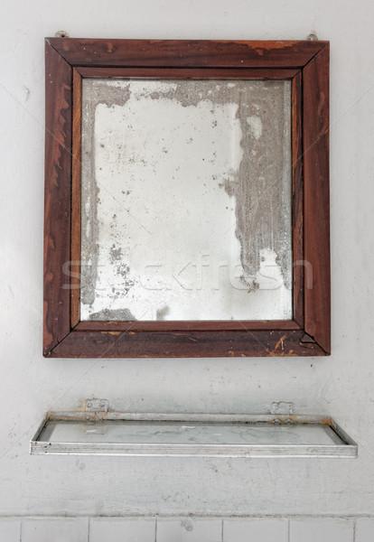 Mirror in a dilapidated bathroom Stock photo © dutourdumonde