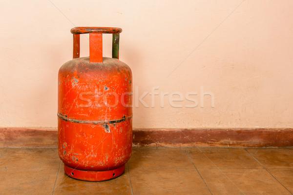 Rojo gas cilindro rosa energía acero Foto stock © dutourdumonde