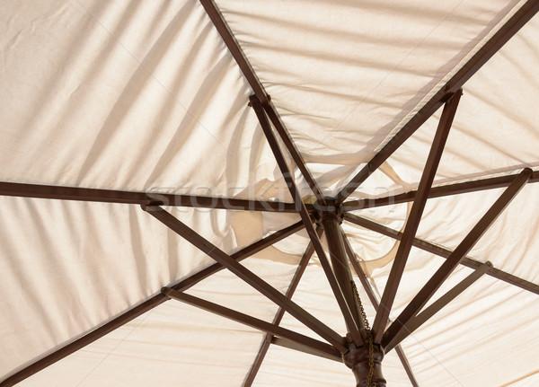パラソル 木材 太陽 夏 家具 熱帯 ストックフォト © dutourdumonde
