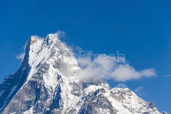 The Machapuchare in Nepal Stock photo © dutourdumonde